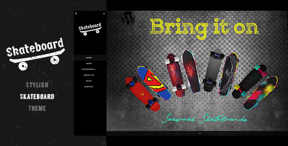 Skateboard - Fullscreen Shopify Theme