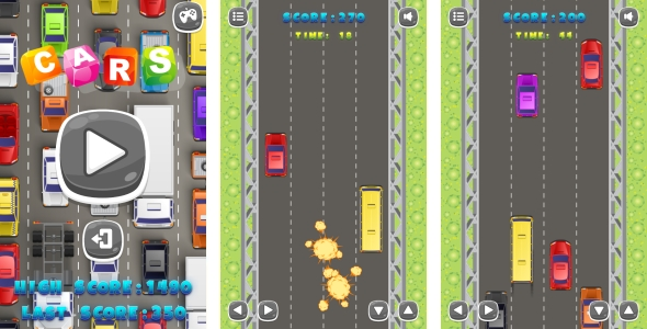 CARS - HTML5 Game + Android + AdMob (Capx) - CodeCanyon Item for Sale
