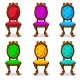 Cartoon Colorful Retro Chair - GraphicRiver Item for Sale