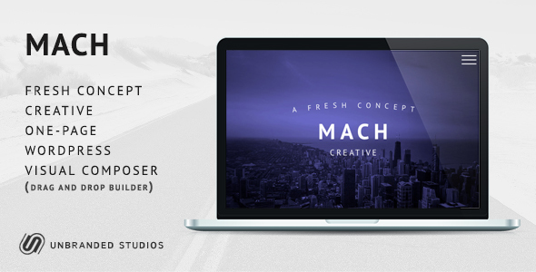 MACH – Fresh Concept One Page Creative WordPress Theme
