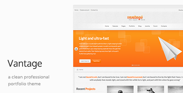 Vantage - Responsive Joomla Business Template
