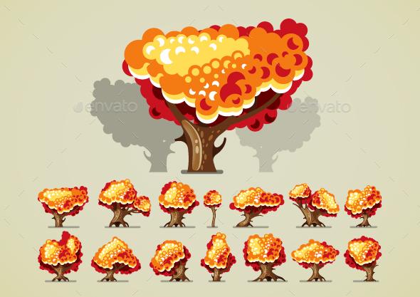Autumn Trees - Seasons Nature