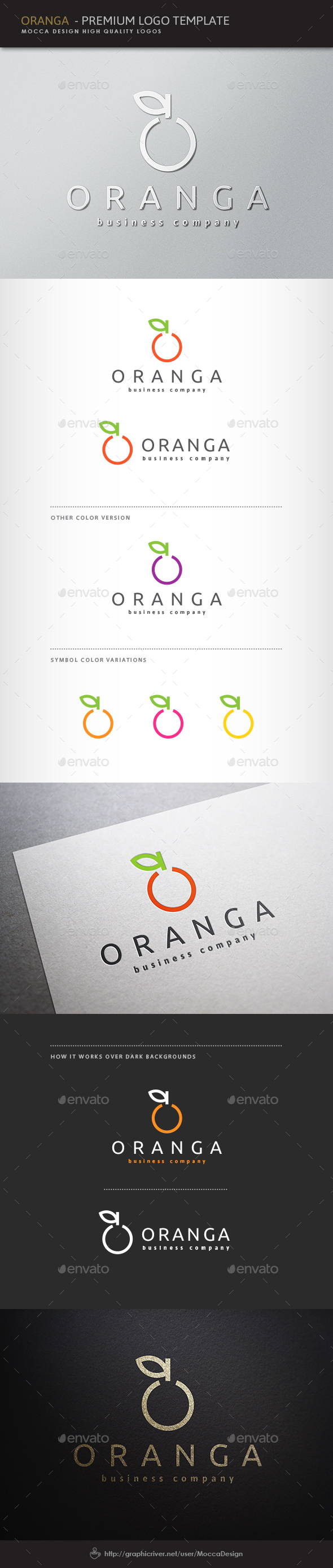 Oranga Logo - Food Logo Templates