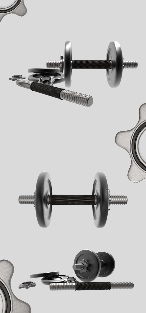 Dumbbell Set - 3DOcean Item for Sale