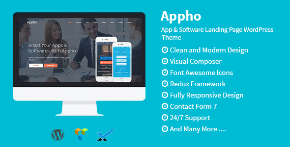 Appho – App & Software Landing Page WordPress Theme