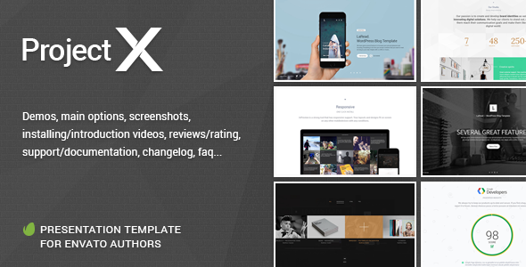 Project—X Presentation Template for Envato Authors - Portfolio Creative