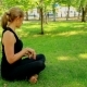 Wide Shot Young Woman Doing Yoga In Park - VideoHive Item for Sale
