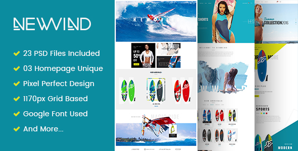 NewWind - eCommerce PSD Template - Retail PSD Templates