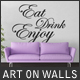 Art On Walls Mockup - Canvas Mockups - Frame Mockups - Wall Mockups Vol 6 - GraphicRiver Item for Sale