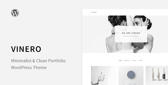 Vinero – Very Clean and Minimal Portfolio WordPress Theme
