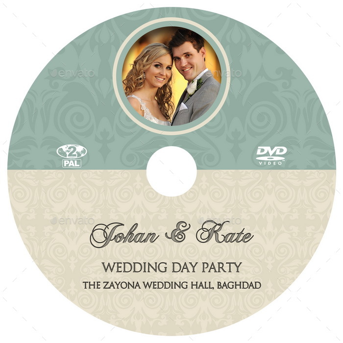 Wedding Dvd Cover And Dvd Label Template Vol.8 By Owpictures