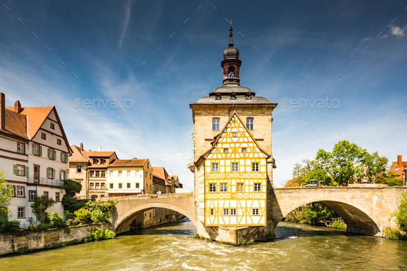 Historic town hall of Bamberg - Stock Photo - Images