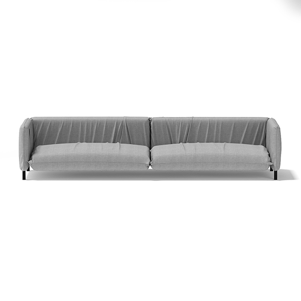 Large Grey Sofa - 3DOcean Item for Sale