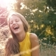Beautiful Girl Cheerfully Laughs - VideoHive Item for Sale