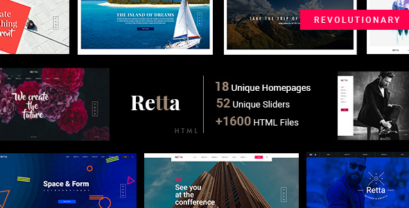 Retta – Multiuse Business HTML5 Mega Pack