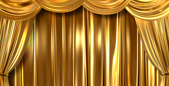 Gold Curtains Open By AS 100