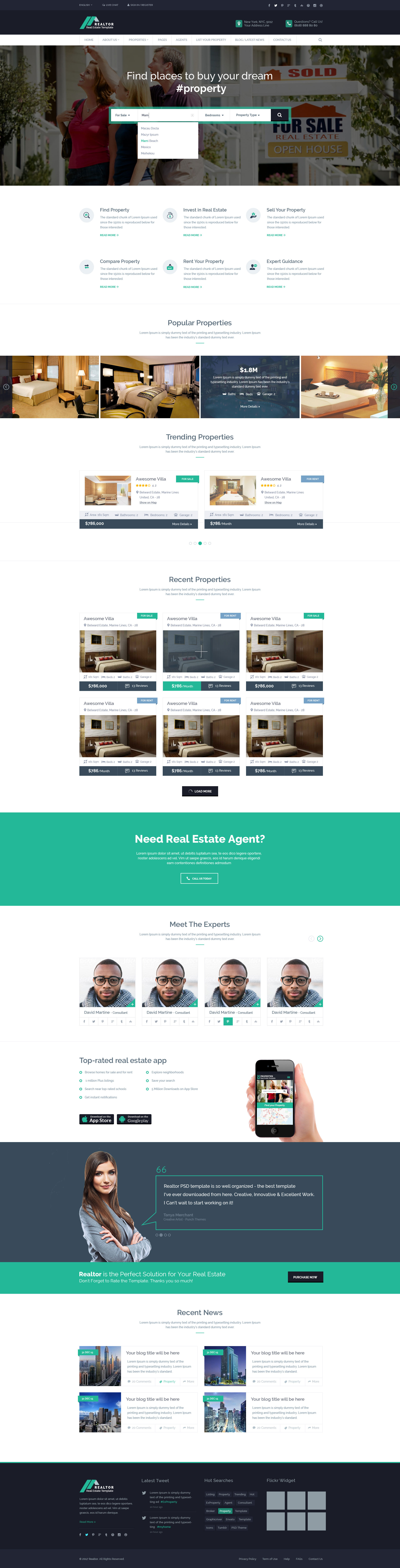 Realtor Real Estate Psd Template By Popothemes Themeforest