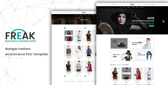 Freak – Boutique eCommerce PSD template