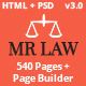 Mr Law - Lawyer Attorney and Law Firm - ThemeForest Item for Sale