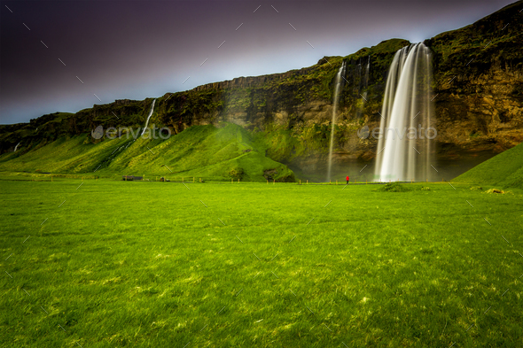 Seljalandsfoss waterfall - Stock Photo - Images