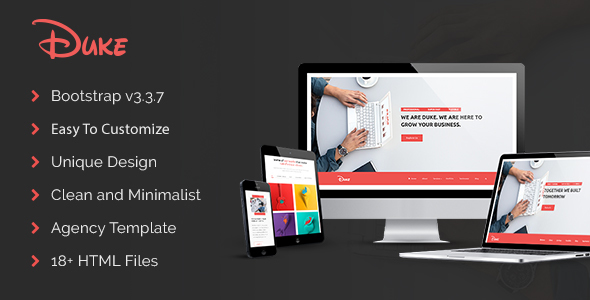 Duke – Responsive HTML5 Agency Template