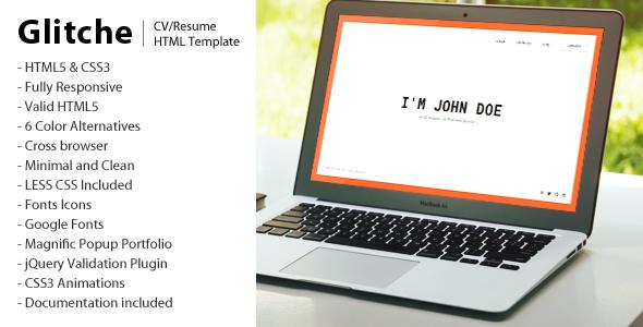 Glitche - CV/Resume Template