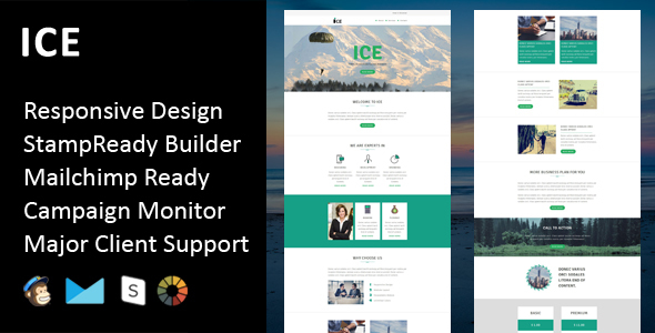 Image of ICE - Multipurpose Responsive Email Template + Stampready Builder