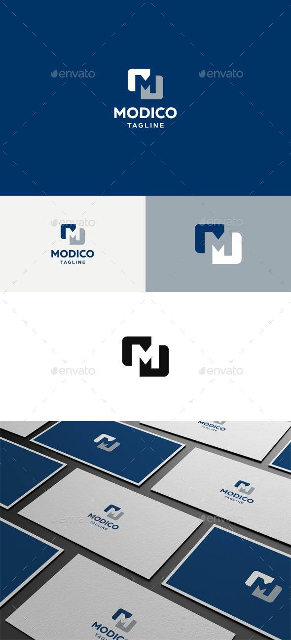 Modico M Letter Logo - Letters Logo Templates