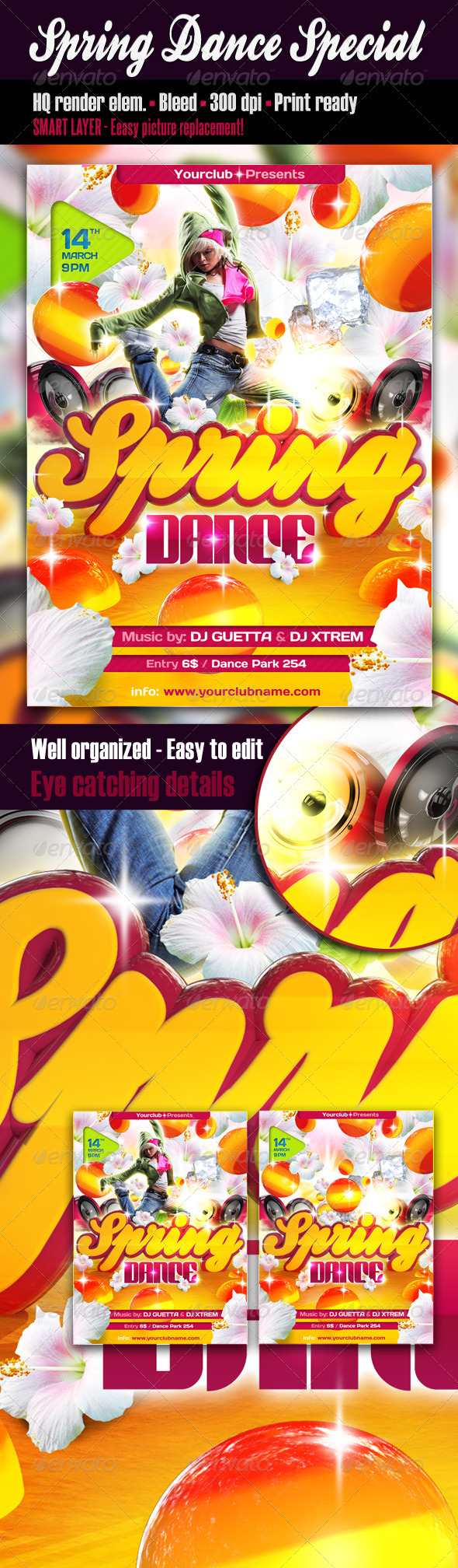 Spring Dance Special Flyer - Clubs & Parties Events