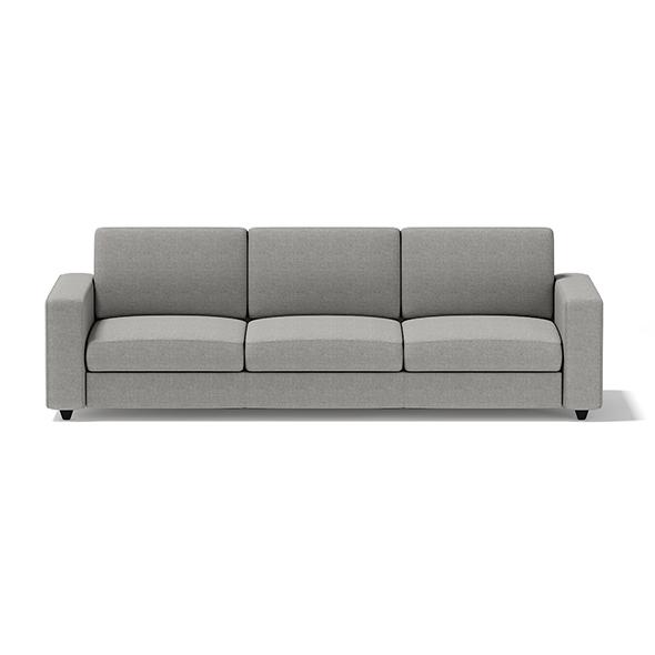 Grey Three Seat Sofa - 3DOcean Item for Sale