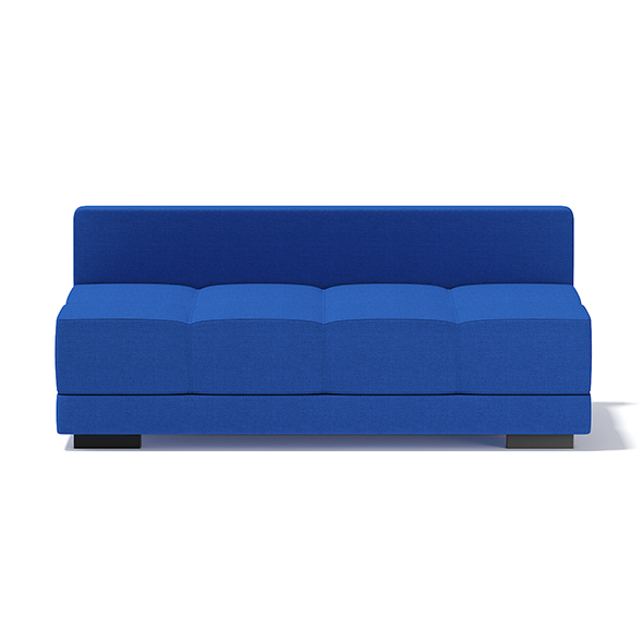 Blue Armless Sofa - 3DOcean Item for Sale