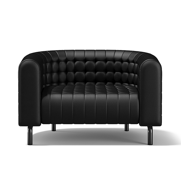 Black Leather Armchair - 3DOcean Item for Sale