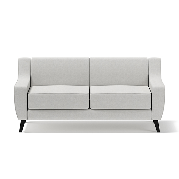 Light-Grey Two Seat Sofa - 3DOcean Item for Sale