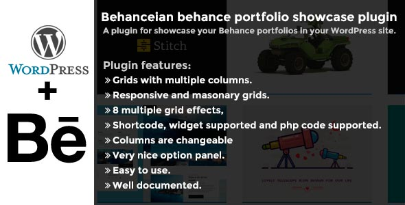 Behanceian behance portfolio showcase plugin - CodeCanyon Item for Sale