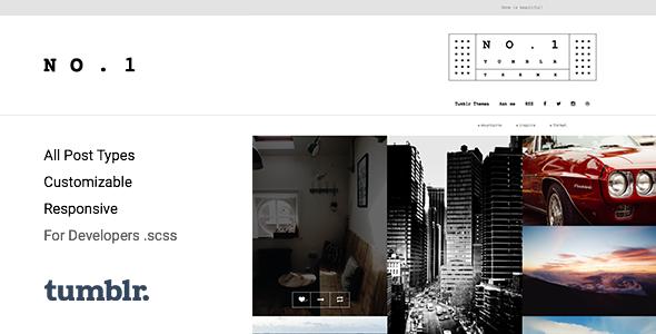 NO.1 | Creative Portfolio Tumblr Theme - Portfolio Tumblr