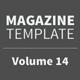 Magazine Template - Volume 14 - GraphicRiver Item for Sale