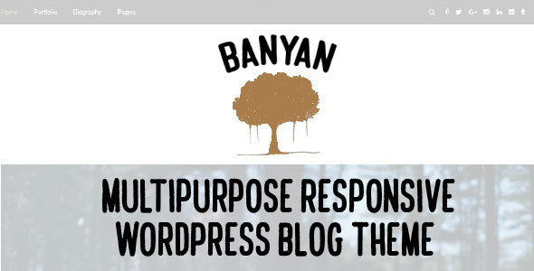 Banyan – Multipurpose Responsive WordPress Blog Theme