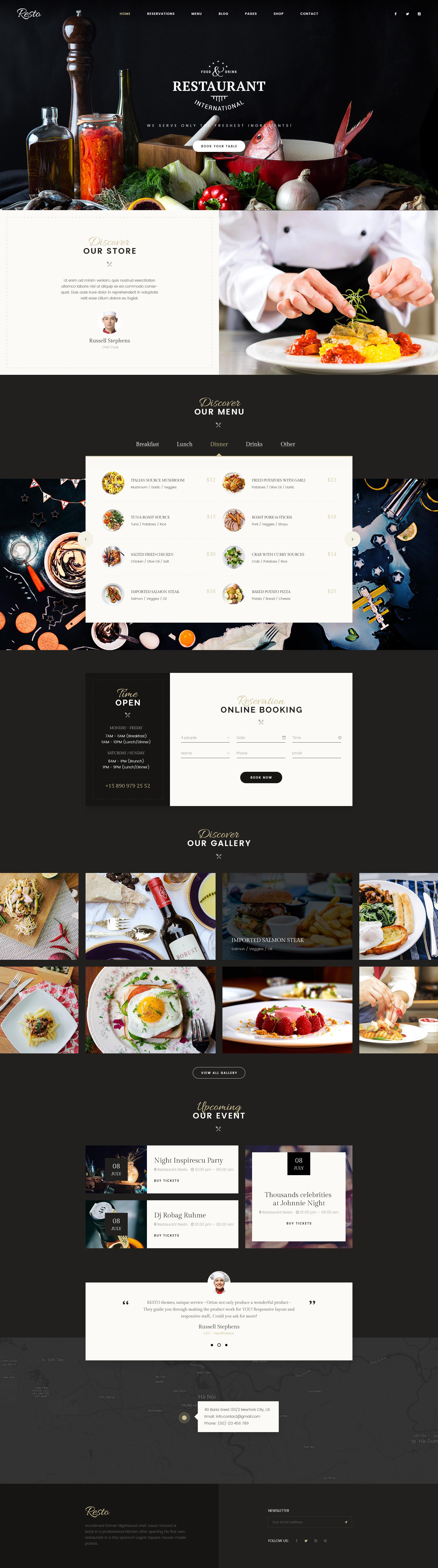 Resto multipurpose restaurant cafe psd template by for Design a restaurant online
