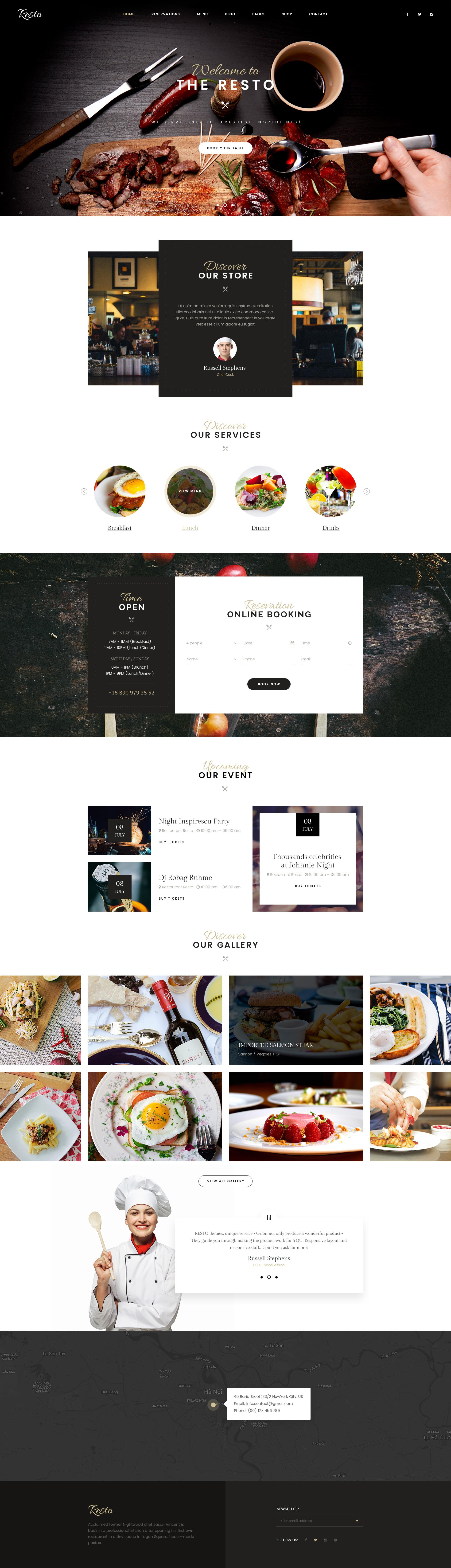 Resto | Multipurpose Restaurant & Cafe PSD Template by Leonard_Design