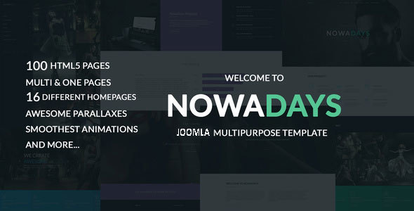 NowaDays – Multipurpose One/Multipage Creative Agency Joomla Theme