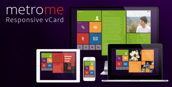 metroMe - Responsive vCard - Virtual Business Card Personal