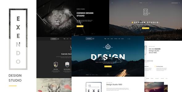 Exendo – Creative PSD Template