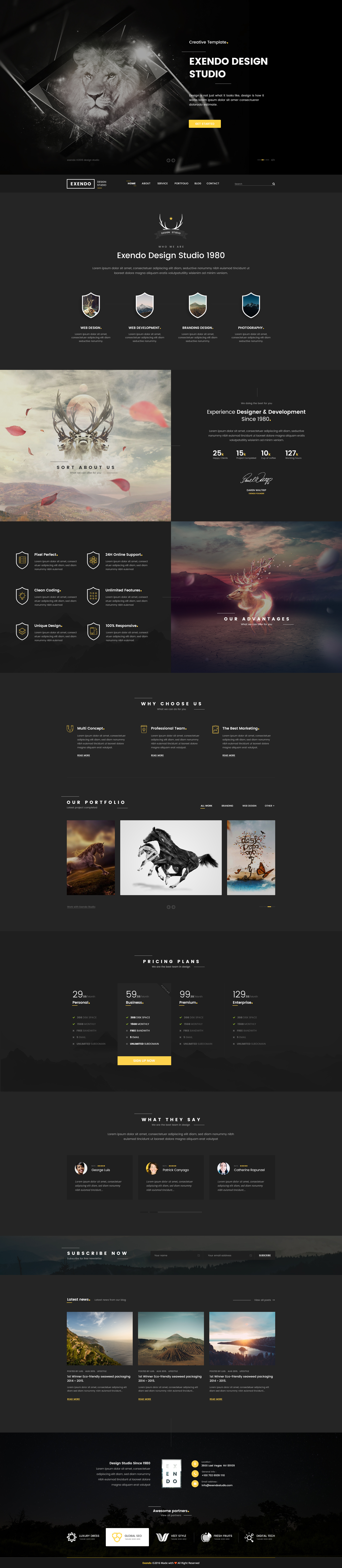 Exendo - Creative PSD Template by Last40 | ThemeForest