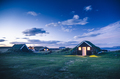 traditional Iceland dwelling in the night - PhotoDune Item for Sale