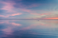 beautiful sunset over lake, simple wallpaper background - PhotoDune Item for Sale