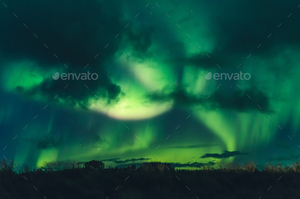 amazing northern lights - Stock Photo - Images