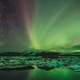 Northern lights over the ice lagoon, Iceland - PhotoDune Item for Sale