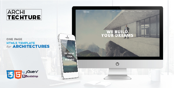 Archi_tecture - One Page Responsive - Business Corporate