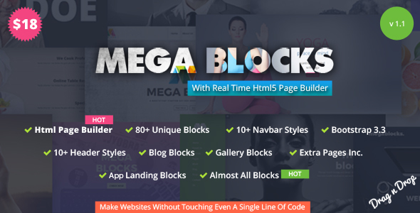 Mega Blocks – Multipurpose Template + Html Page Builder
