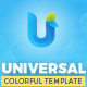 Universal - A Colorful Multipurpose Template Nulled